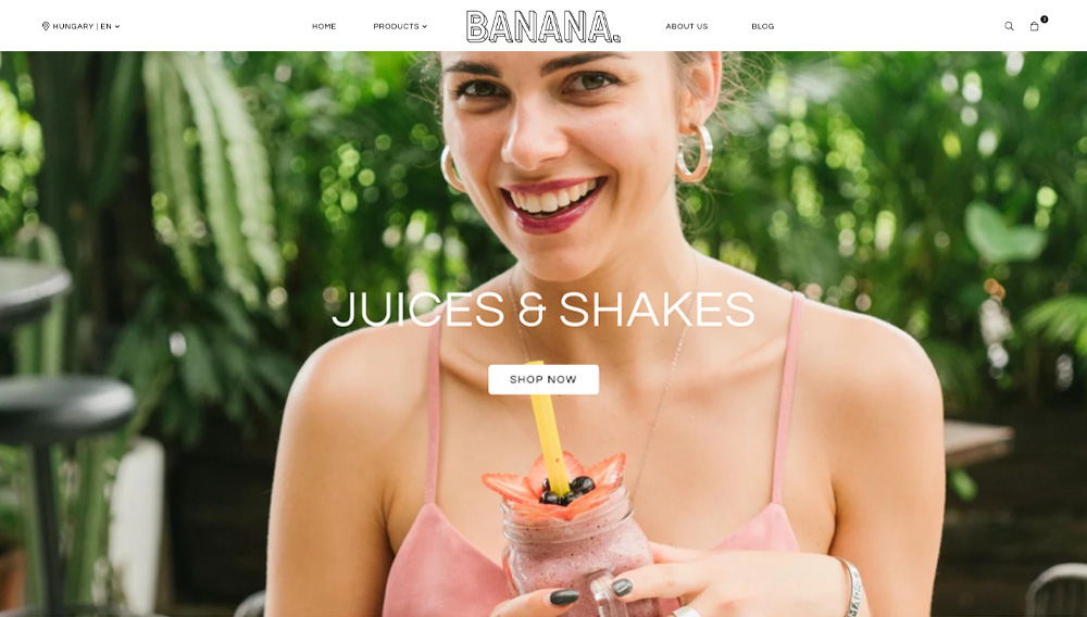 Banana store theme by Stylehub.