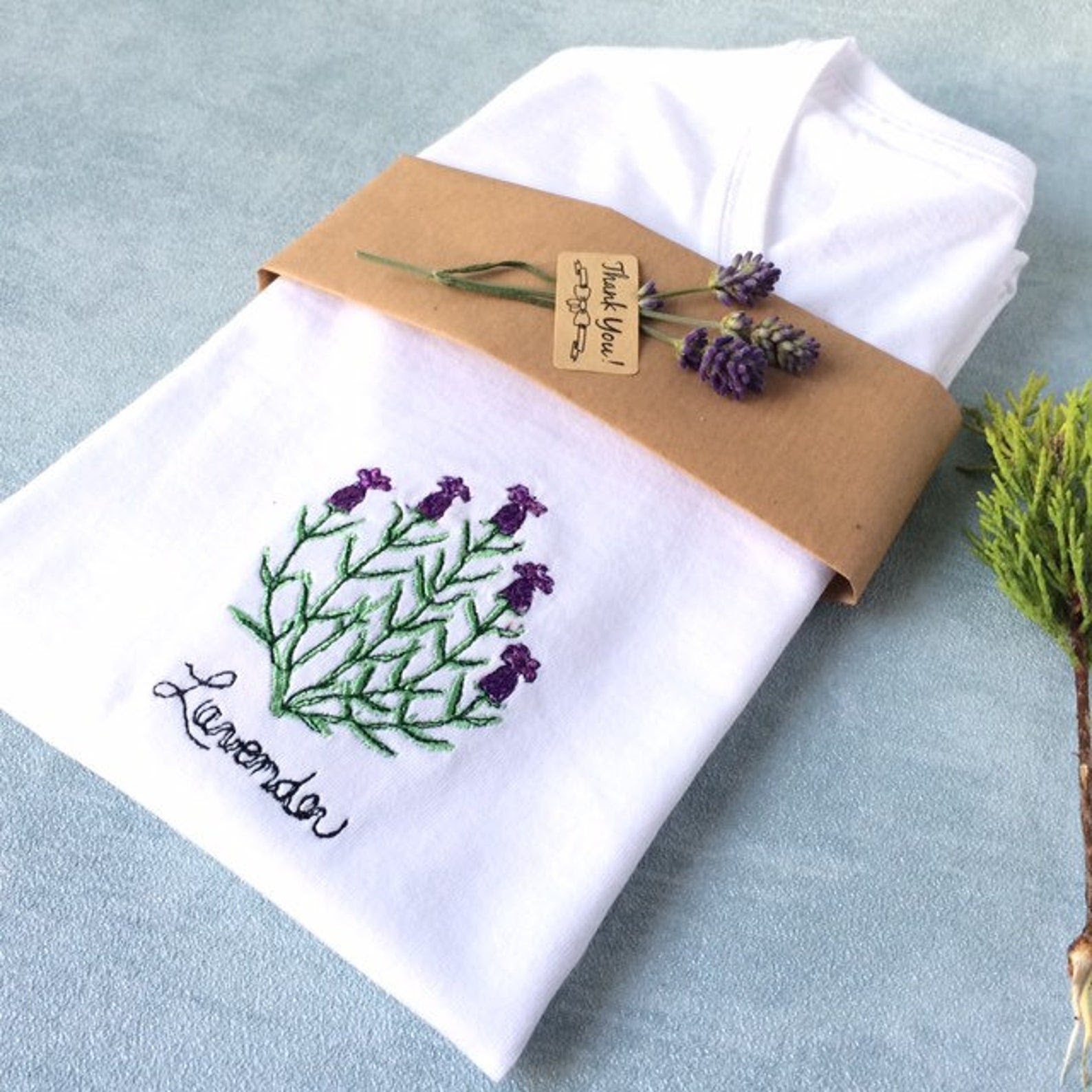 botanical t-shirt packaging